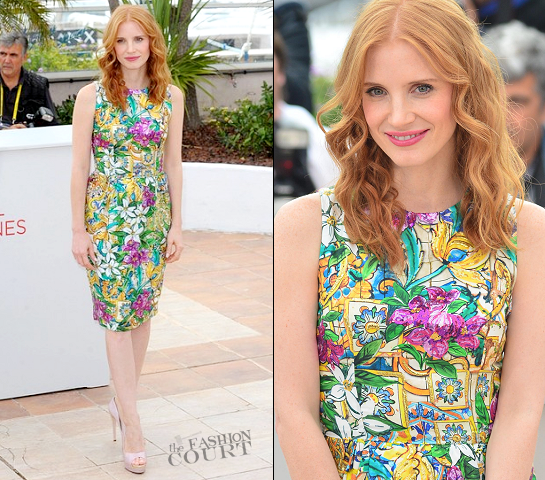 Jessica Chastain in Dolce & Gabbana | 2012 Cannes Film Festival - 'Madagascar 3' Press Conference