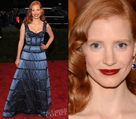 Jessica Chastain in Louis Vuitton | 2012 MET Gala