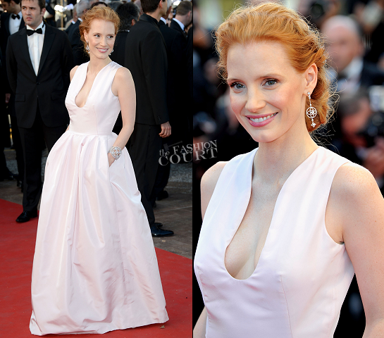 Jessica Chastain in Alexander McQueen | 2012 Cannes Film Festival Opening Ceremony & 'Moonrise Kingdom' Premiere