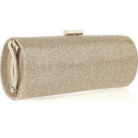 Jimmy Choo Glitter Finish Tube Clutch