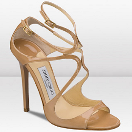 Jimmy Choo LANCE Sandals - Nude Patent