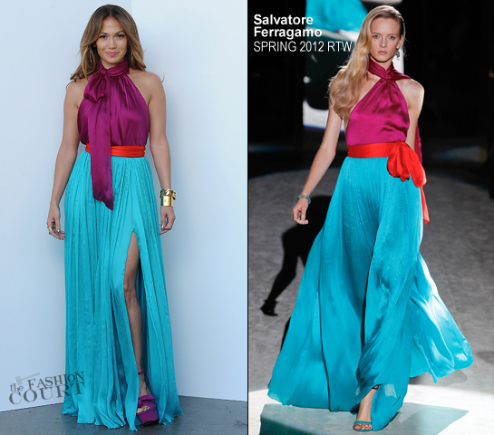 Jennifer Lopez in Salvatore Ferragamo | 'American Idol' Season 11 Top 3 To 2 Live Elimination Show