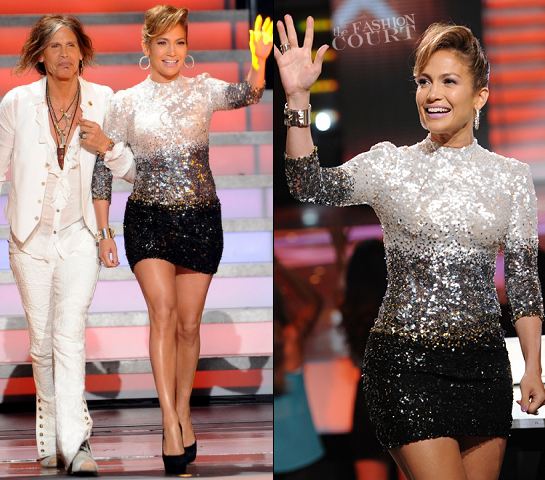 Jennifer Lopez in Reem Acra | FOX's 'American Idol' Season 11 Top 4 Live Performance Show