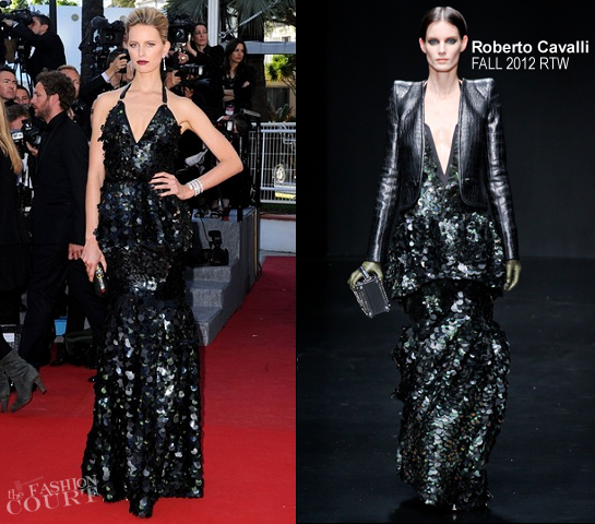 Karolina Kurkova in Roberto Cavalli | 2012 Cannes Film Festival - 'Killing Them Softly' Premiere