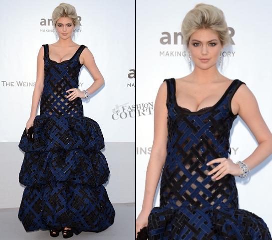 Kate Upton in Louis Vuitton | amfAR's Cinema Against AIDS Gala 2012
