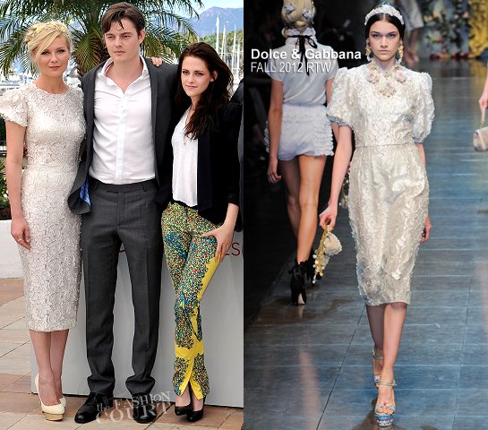 Kirsten Dunst in Dolce & Gabbana | 2012 Cannes Film Festival - 'On The Road' Photocall