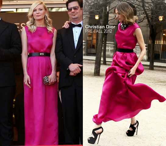 Kirsten Dunst in Christian Dior | 2012 Cannes Film Festival - 'On The Road' Premiere