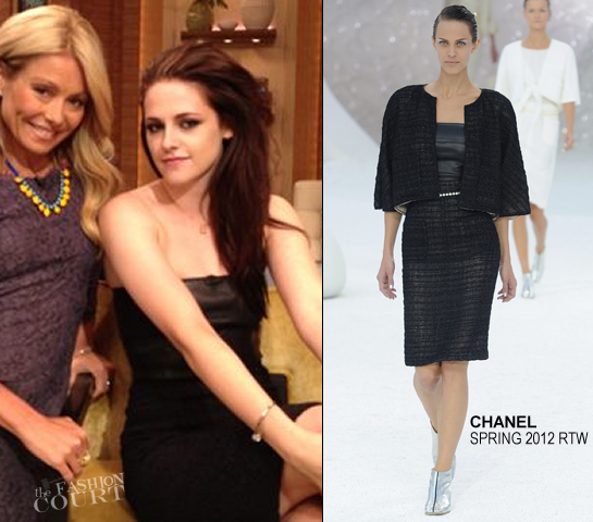 Kristen Stewart in Chanel | 'LIVE! with Kelly'