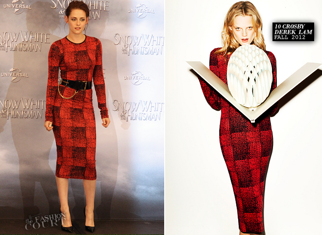 Kristen Stewart in 10 Crosby by Derek Lam | 'Snow White and the Huntsman' Berlin Fan Event