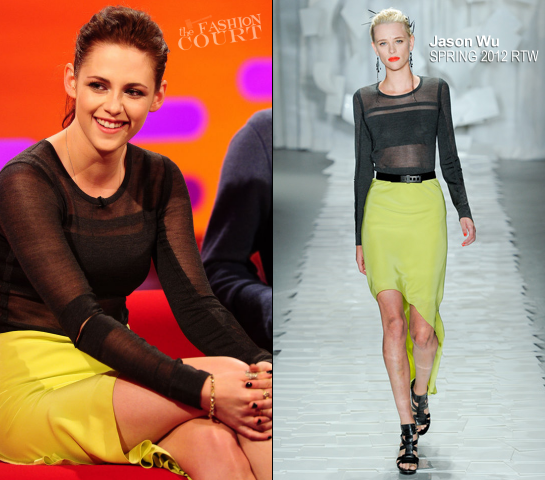 Kristen Stewart in Jason Wu | 'The Graham Norton Show'