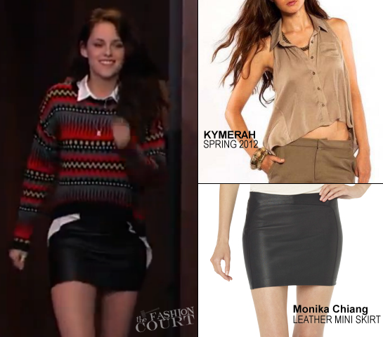 Kristen Stewart in Pinkyotto, Kymerah & Monica Chang | 'Jimmy Kimmel Live'