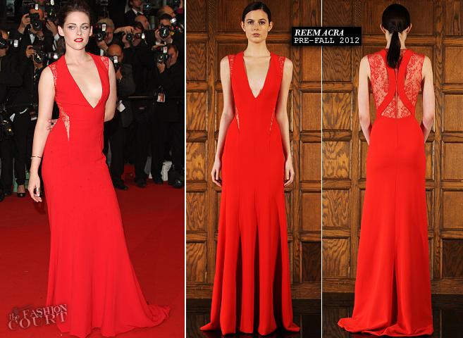 Kristen Stewart in Reem Acra | 'Cosmopolis' Premiere - 2012 Cannes Film Festival