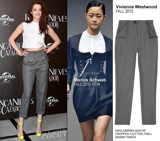 Kristen Stewart in Marios Schwab & Vivienne Westwood | 'Snow White and the Huntsman' Mexico City Photocall