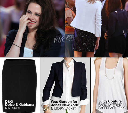 Kristen Stewart in Wes Gordon, Dolce & Gabbana and Juicy Couture | 'Le Grand Journal'
