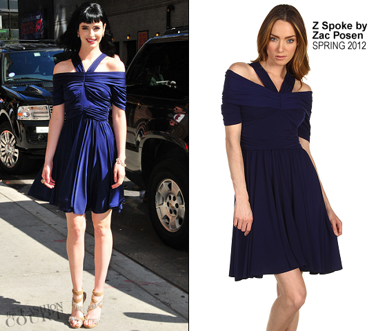 Krysten Ritter in Z Spoke by Zac Posen | 'Late Show with David Letterman'