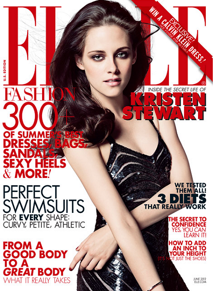 Cover Girl: Kristen Stewart for ELLE's June Issue -- She's the Man!