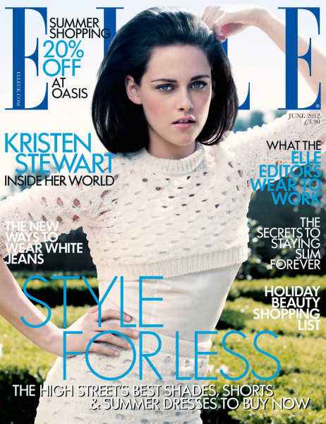 Cover Girl: Kristen Stewart Goes Retro for ELLE UK June 2012!