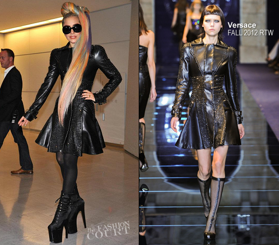 Lady Gaga Heads to Tokyo in Versace with 'My Little Pony' Hair!