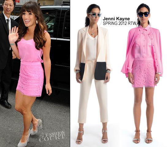 Lea Michele in Jenni Kayne | 2012 FOX Upfront Presentation