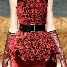 McQ by Alexander McQueen Fall 2012 Leather Chain Belt