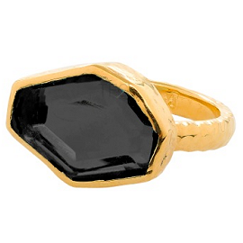 Melinda Maria SLICED Ring in Black Onyx