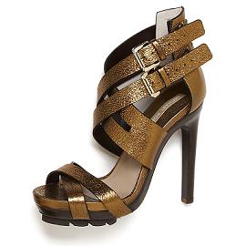 Michael Kors Metallic BREEZE Platform Sandals