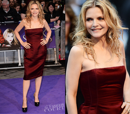 Michelle Pfeiffer in Lanvin | 'Dark Shadows' London Premiere