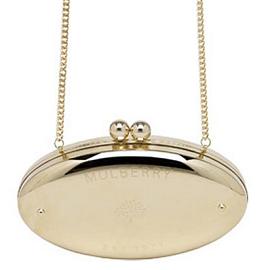 Mulberry Signature Metallic Oval Clutch