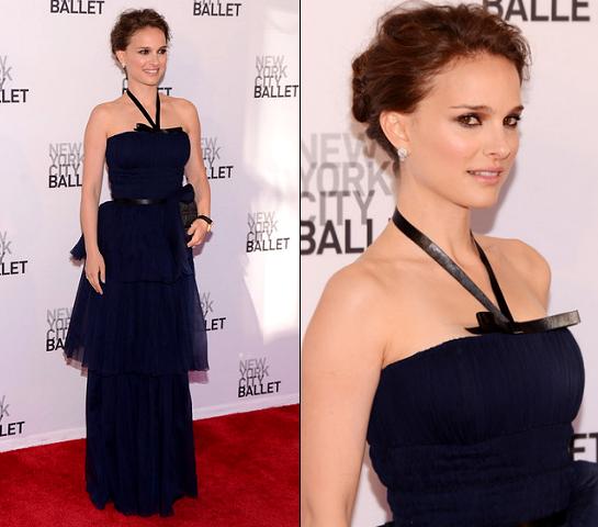 Natalie Portman in Christian Dior | New York City Ballet's 2012 Spring Gala