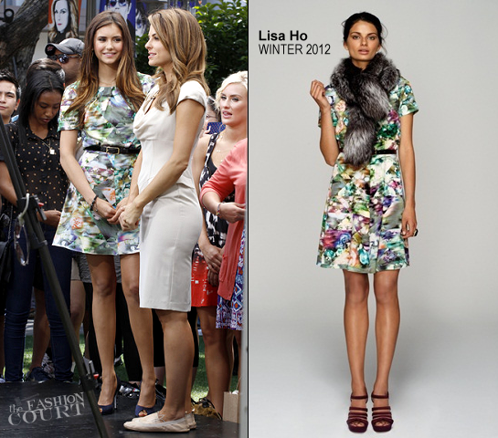 Nina Dobrev in Lisa Ho | 'Extra' TV Interview