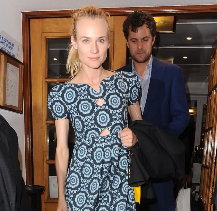 Diane Kruger Dines Out in Cannes Wearing Versus!