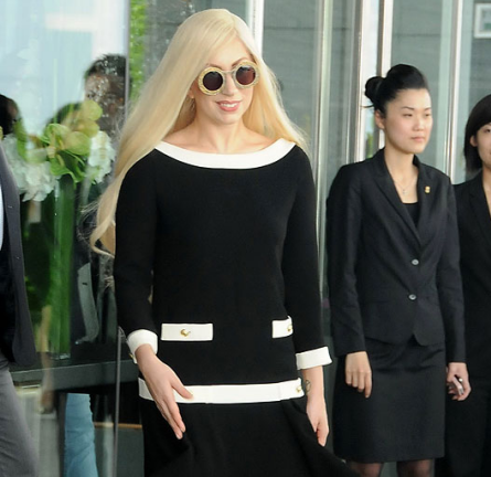 Spotted: Lady Gaga Wears a Moschino Dress in Hong Kong!