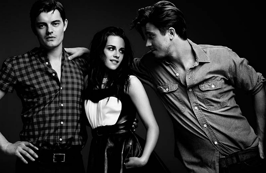 On The Road: Garrett Hedlund, Kristen Stewart & Sam Riley for Le Monde M!