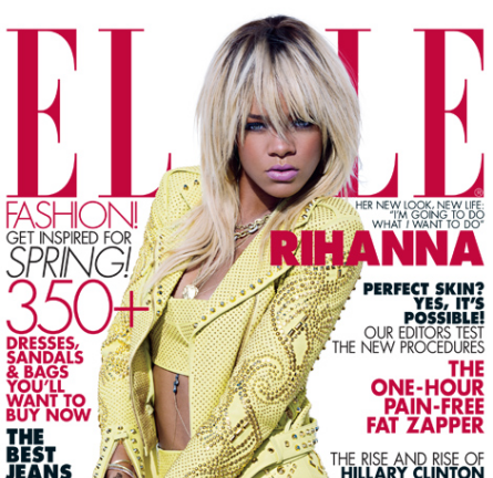 "Cover Girl: Rihanna for the May 2012 ""Music"" Issue of ELLE!"