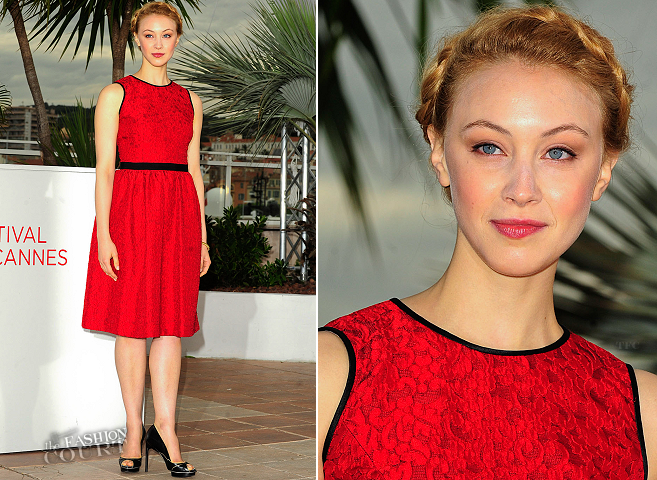 Sarah Gadon in Jason Wu | 'Antiviral' Photocall - 2012 Cannes Film Festival