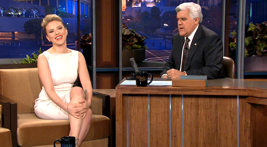 Scarlett Johansson in Antonio Berardi | 'The Tonight Show with Jay Leno'