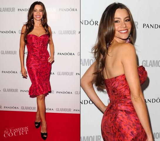 Sofia Vergara in Zac Posen | Glamour Women of the Year Awards 2012