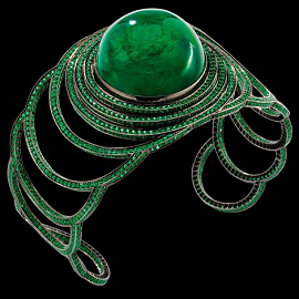 Solange Azagury-Partridge Emerald Step Cuff