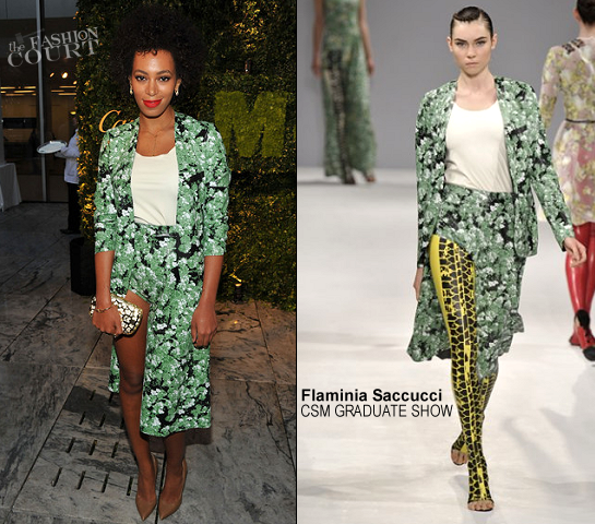 Solange Knowles in Flaminia Saccucci | 2012 MoMA Party In The Garden Benefit
