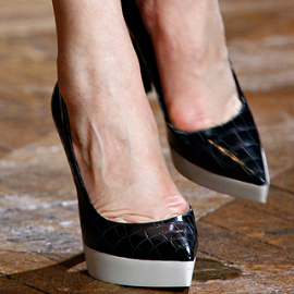 Stella McCartney Fall 2012 Faux Croc Platform Pumps