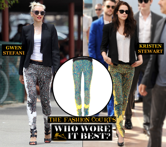 Who Wore It Best? Gwen Stefani & Kristen Stewart in Matching BALENCIAGA Looks!