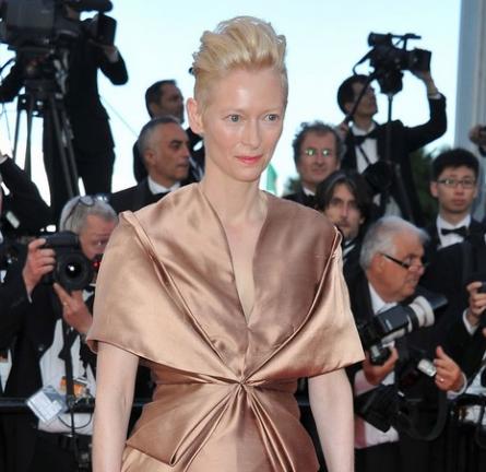 Tilda Swinton in Haider Ackermann   2012 Cannes Film Festival Opening Ceremony & 'Moonrise Kingdom' Premiere