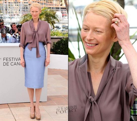 Tilda Swinton in Haider Ackermann | 2012 Cannes Film Festival - 'Moonrise Kingdom' Photocall
