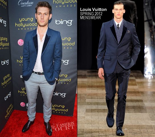 Alex Pettyfer in Louis Vuitton | 2012 Young Hollywood Awards