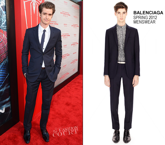 Andrew Garfield in Balenciaga | 'The Amazing Spider-Man' LA Premiere