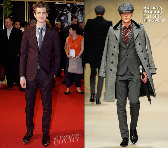 Andrew Garfield in Burberry Prorsum | 'The Amazing Spider-Man' Seoul Premiere