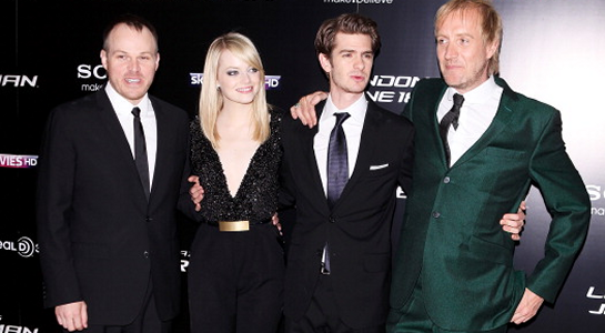 Andrew Garfield in Tom Ford | 'The Amazing Spider-Man' London Premiere