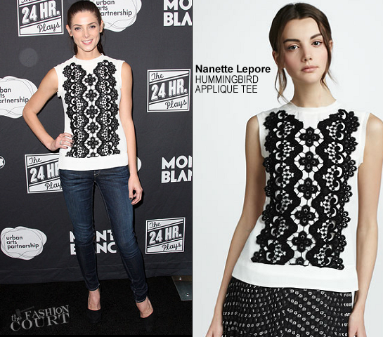 Ashley Greene in Nanette Lepore | Montblanc: 'The 24 Hour Plays: Los Angeles'