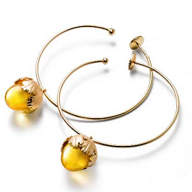 Baccarat 'Les Sous Bois' Collection Murmure Yellow Crystal Earrings