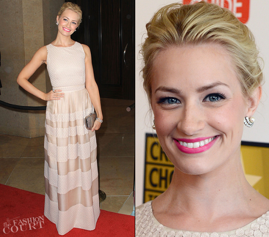 Beth Behrs in Paule Ka | 2012 Critics' Choice Television Awards